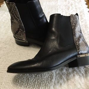 Ivanka Trump Grey Snake Skin Leather Booties